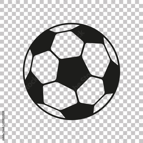 Fototapeta Football icon in flat style