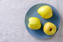 Ugly Fresh Food Concept With Fresh Apples