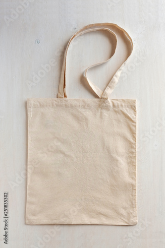 Fototapeta  Natural fiber neutral re-usable shopping bag
