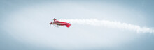Red Airplane Flying Loop With ...