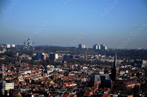 Fotografia, Obraz  Bruxelles : Panorama sur la ville du haut de la Basilique de Koekelberg (Belgiqu