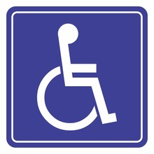 Wheelchair Icon For The Disabled