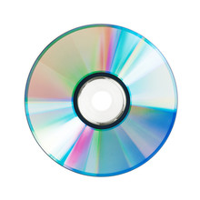 Round Compact Disc Lies On A W...