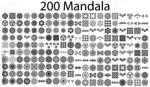 Photo various mandala collections - 200