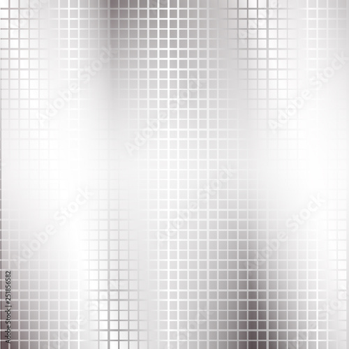 Fotografiet  Modern high-tech background of gray squares and a glow for the logo, text,  poster, labels, wallpaper