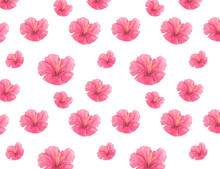 Watercolor Pink Flowers Blosso...