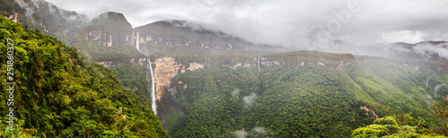Fotografie, Obraz Highest water fall of Peru : the Gocta fall situated in the Amazonas area, near