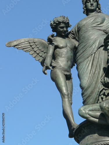 Fotografie, Obraz  statue of Mercury, of Munificence and of the God of Commerce