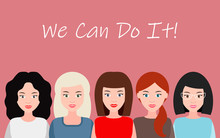 We Can Do It. Symbol Of Female...