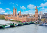 Fototapeta Londyn - Houses of Parliament and Big Ben, London, UK