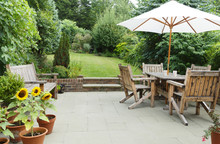 Patio With Garden Furniture An...