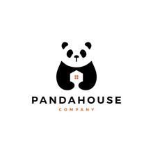 Panda House Logo Vector Icon I...