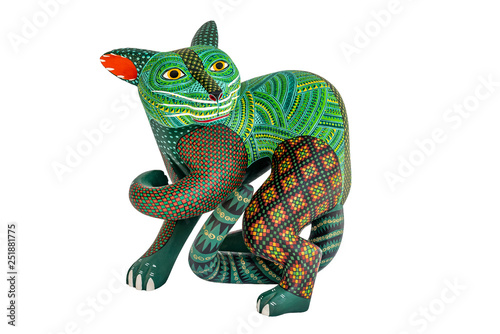 Fotobehang Puma Mexican fantasy figures called Alebrijes. Elaborate painted weird sculptures made in Oaxaca, Mexico