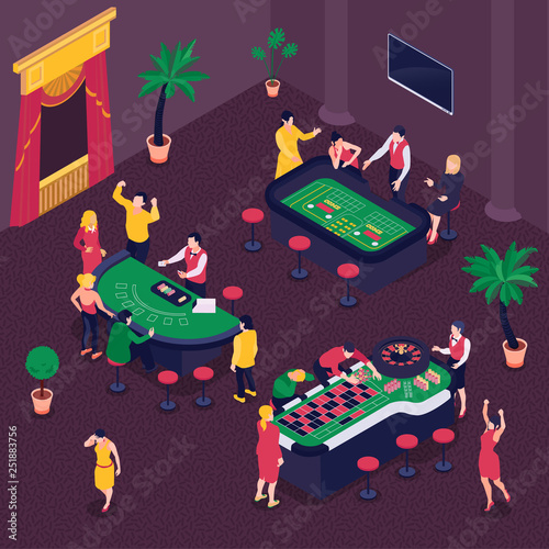 Casino Isometric Background