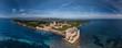 Leinwanddruck Bild - Above Lerins islands in French Riviera