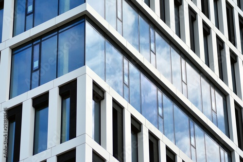 Tthe windows of a modern building for offices