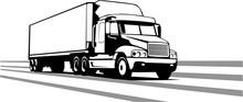 Tractor Trailer Vector Illustr...