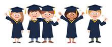 Group Of Happy Smiling Graduat...