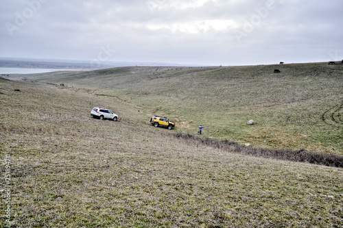 Fotomural Rally-raid, dirt and gravel road competitions, jeep races, off-road races on spe