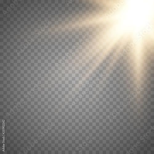 Fototapeta Lens flare light effect.  obraz na płótnie