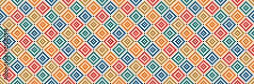 Aztec like style pattern illustration Obraz na płótnie