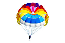Bright Colorful Parachute On W...