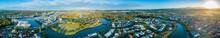 Wide Aerial Panorama Of Beauti...