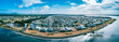 Aerial panorama of Harrington, New South Wales, Australia