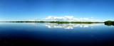 panorama of placid lake in florida