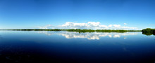 Panorama Of Placid Lake In Flo...