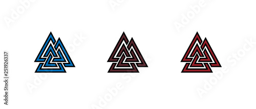 Photo Valknut symbol logo
