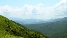 4K Elevated View Mountains WuFenShan Cloudy Day. Beautiful Mount Landscape-Dan