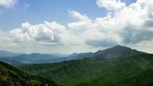 4K Timelapse Elevated View Mountains WuFenShan. Beautiful Mount Landscape -Dan