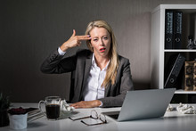 Tired Woman Hates Her Job