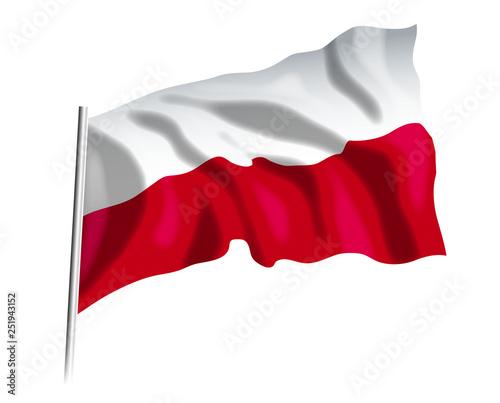 Fototapeta Flaga Polska obraz