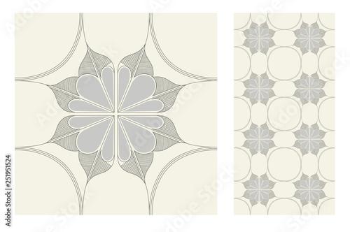 Foto  tiles Portuguese patterns antique seamless design in Vector illustration vintage