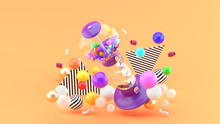 Gum Ball Machine Among Colorfu...