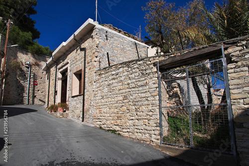 Papiers peints Les vieux bâtiments abandonnés Lefkara village, Cyprus