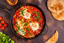 Shakshuka In A Frying Pan.