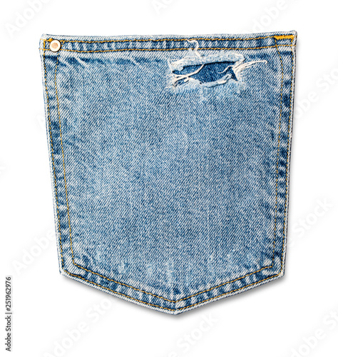 Fotografía  Jeans pocket isolated on the white