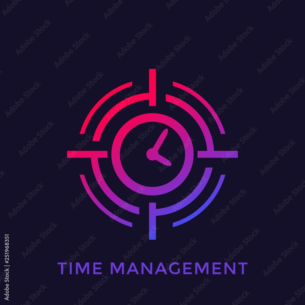 Fototapeta time management concept, vector