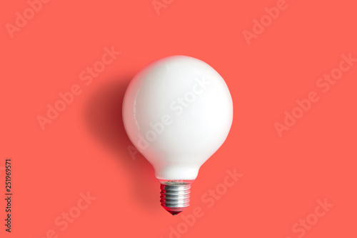 Photo  Modern light bulb on color background