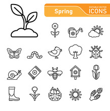 Spring Icon Set (highly Detail...