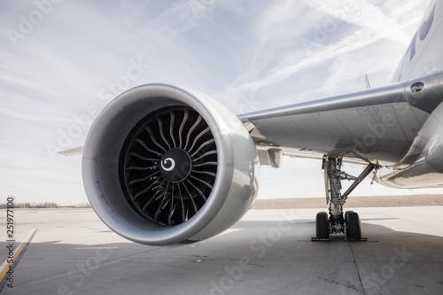 Canvas Print Boeing777 Engine