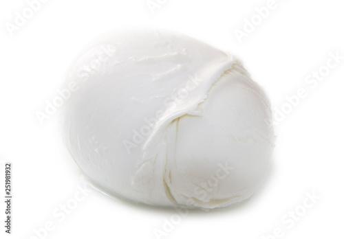 Fotobehang Buffel fresh italian mozzarella on white background
