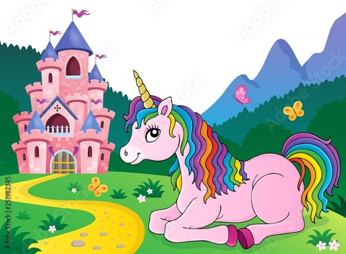 Lying unicorn theme image 4