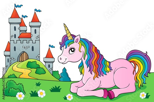 Lying unicorn theme image 5