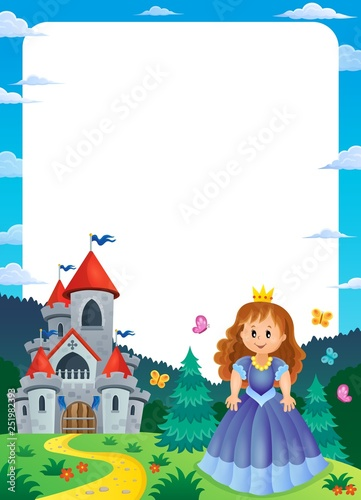 Princess and castle composition frame 2