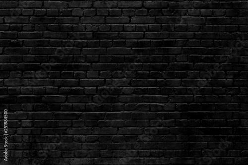 Foto op Plexiglas Historisch geb. black brick wall