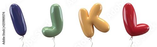 Fotografia Brilliant balloons font